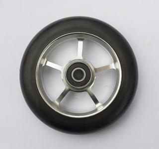 Колесо 100 мм с резиновой шиной 65А в сборе