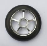 Колесо 100 мм с резиновой шиной 65А в сборе,  #2